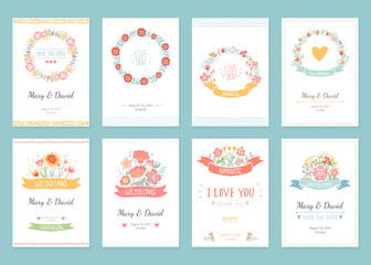 Romantic vintage cards collection