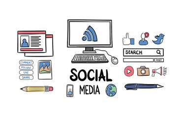 Using social media vector