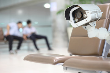 CCTV Camera Operating inside a station