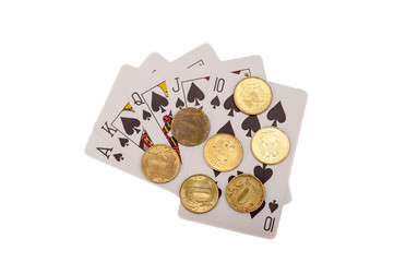 Playing Cards And Coins