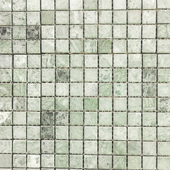 Green tile on the wall texture and backgroud.