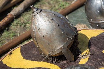 .Cracow, Poland. Knight camp during the traditional Medieval festival