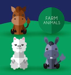 Farm Animals : Vector Illustration
