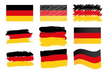 Deutschland Flagge Fahne Icon Button Germany
