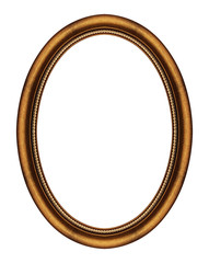 Round wooden picture frame