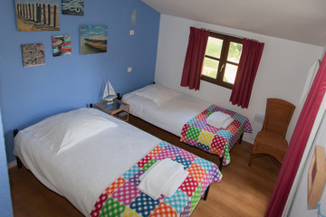 Beautiful Double bed in the blue room
