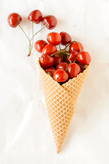 Cherry in the cone