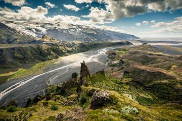 Island; Eyjafjallajökull, Thorsmörk Fototapete