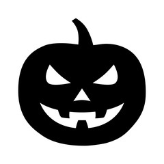 Jack-o'-lantern / jack-o-lantern Halloween carved pumpkin flat icon for apps and websites