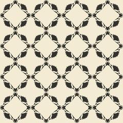 Geometric ornament seamless pattern.  Monochrome design template seamless background. Round, polygonal and grunge motif endless texture.