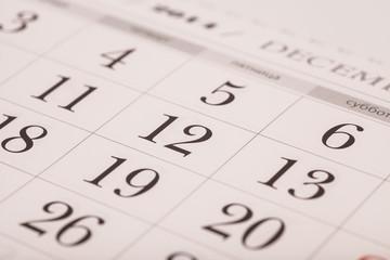 december on calendar