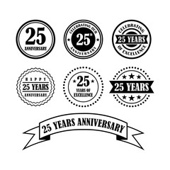 Celebrating 25 - Twenty Five Year Anniversary Badge