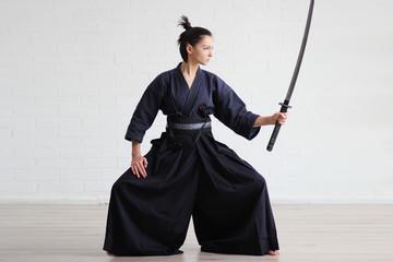 Samurai japan woman