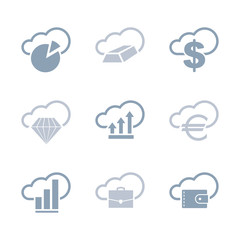 Business and infographics icons set