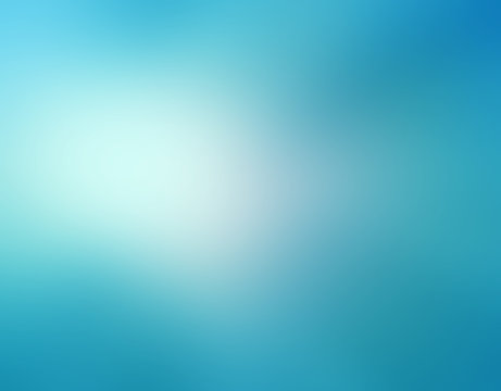 abstract sky blue blurred background colors in soft blended design with white spotlight