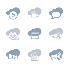 Media and video icon set