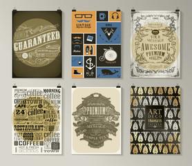 Set of poster, flyer, brochure design templates
