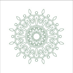 Abstract hand drawn outline circular ornament.