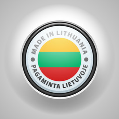 Made in Lithuania (non-English text - Made in Lithuania)