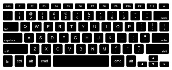 Vector modern computer keyboard background