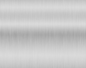 Metal background or texture of brushed steel plate with reflections Iron plate