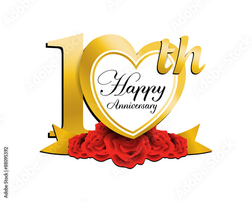 Wedding Anniversary Logo Heart 10