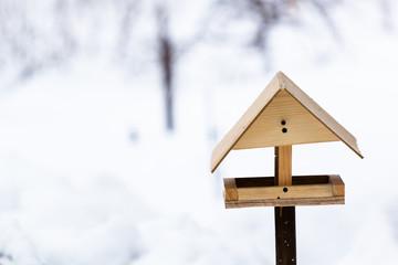Winter bird feeders