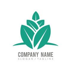 Leaf vector logo icon