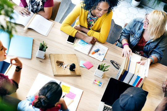 Diverse Group People Working Together Concept