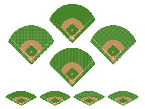 Set of Baseball Fields