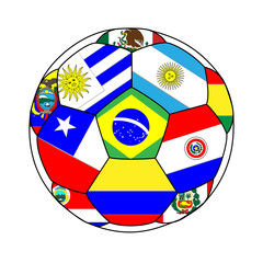 Football with South American Flags 1