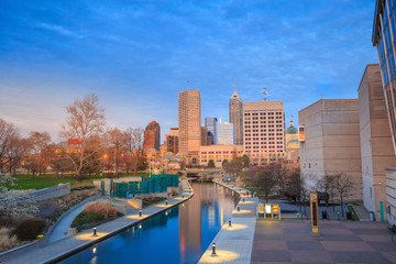 Downtown Indianapolis skyline Wall mural