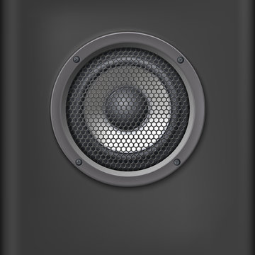 Sound speaker with grille.