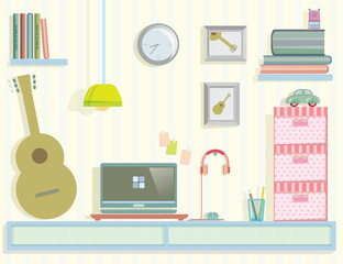 work area in my room vector