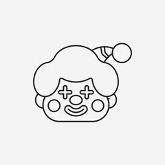 clown line icon
