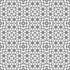 Vector Abstract Seamless Geometric Islamic Wallpaper.