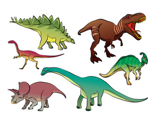 Photo sur Plexiglas Dinosaurs dinosaur cartoon vector