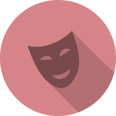 smiling mask in flat shadow