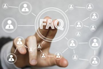 Business button FAQ connection signal web icon