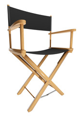 Director's chair isolated on white background