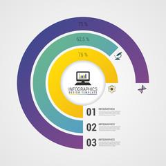 Pie Chart Circle Graph. Modern Infographics Design Template. Vector