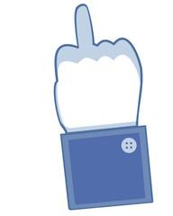 Facebook Stinkefinger