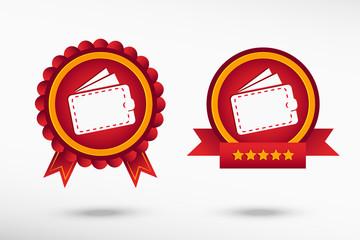Wallet icon stylish quality guarantee badges