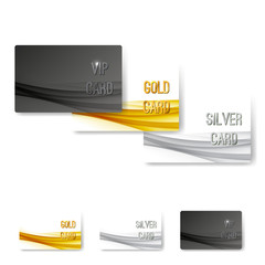 VIP status membership card template set