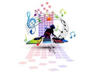 musica, note, suonare, festa