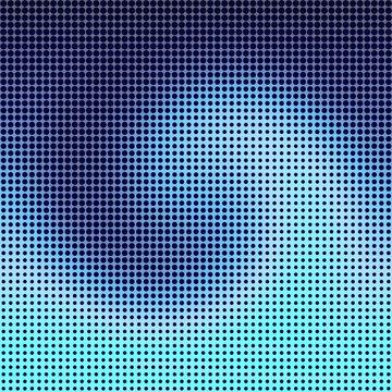 Yin Yang dotted halftone pattern background