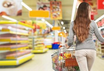 Supermarket, Freezer, Groceries.