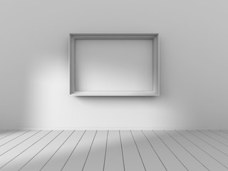 Blank Photo Picture Frame On Wall