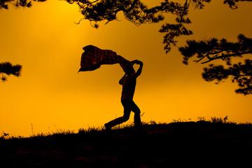 .Running Silhouette