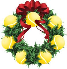 Tennis Holiday Wreath
